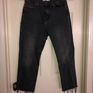 Top Shop IDOL Black Straight Jeans
